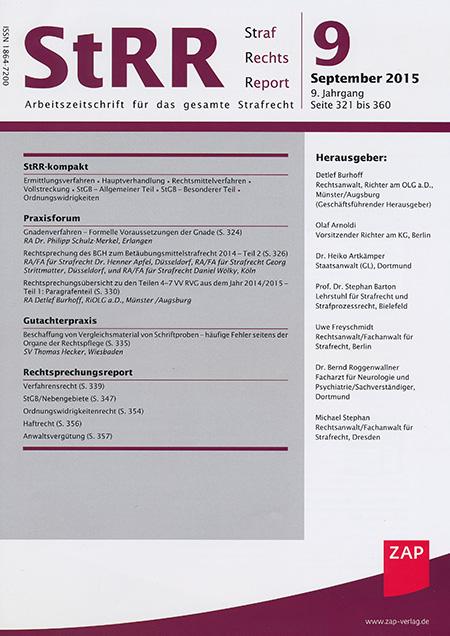 Strafrechtsreport 9/2015